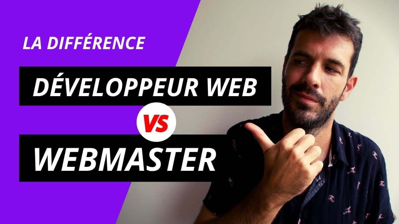 Différence Développeur VS Webmaster